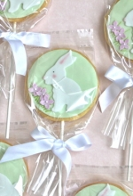 Spring Bunny Cookie Pops