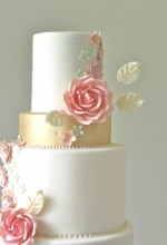 Summer Rose Wedding Cake