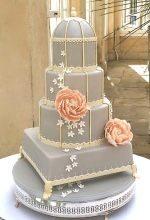 Dove Grey Birdcage Wedding Cake
