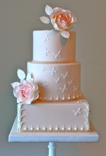 Butterfly Rose Wedding Cake
