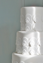 White Geometric Wedding Cake