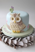 Owl Woodland Birthday Cake