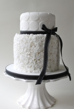 Monochrome Ruffles Wedding Cake