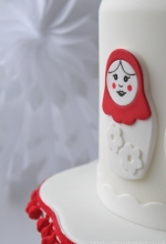 Matryoshka Doll Christmas Cake