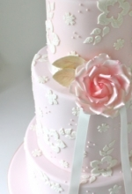 Blushing Rose Wedding Cake