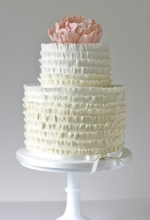 Ombre Frill Wedding Cake