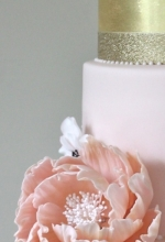 Blush Peony Anemone Wedding Cake