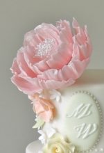 Peony Enchant Wedding Cake