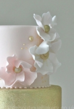 Pink & Gold Opal Wedding Cake