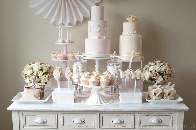 wedding dessert table little boutique bakery. Black Bedroom Furniture Sets. Home Design Ideas