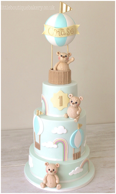 Teddy Balloon Cake