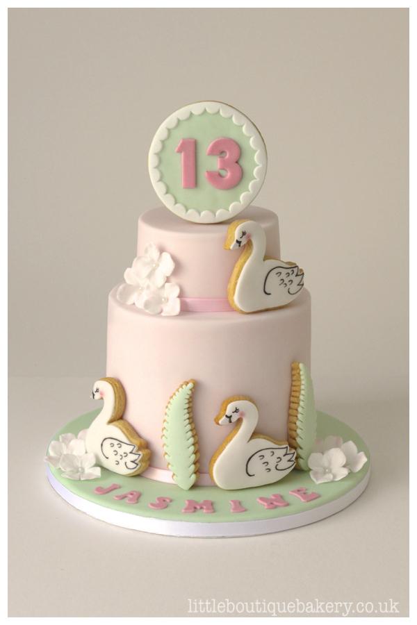 LBB_swan_birthdaycake
