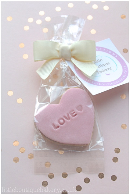 Love Heart Cookie Favour